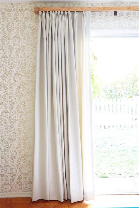 curtains down weigh down your curtains with a proper 5 by emily