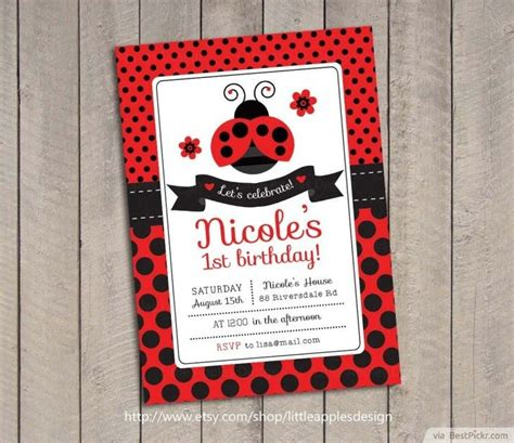 Ladybug Birthday Card Template by 1 Beautiful Printable Ladybug Invitation 2