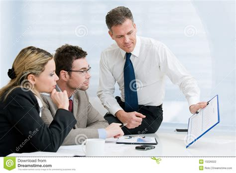 bureau manager business office presentation stock photography image