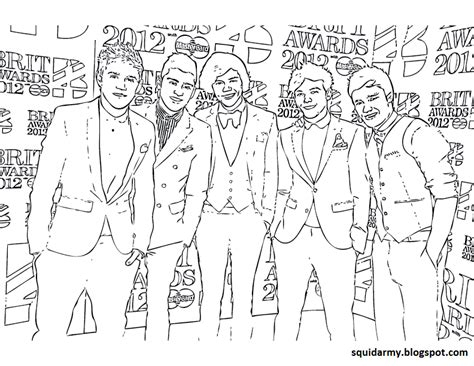 one direction coloring pages squid army
