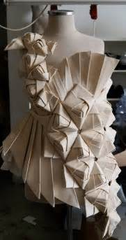 Origami Fashion Designers - origami fashion design with an asymmetric pleated
