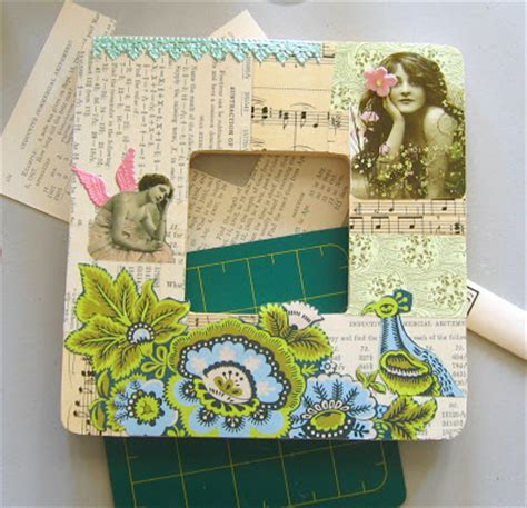 Decoupage Picture Frame - lizzyjdesigns how to make a frame pretty decoupage