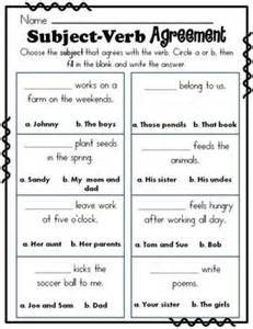 singular and plural nouns subject verb agreement and