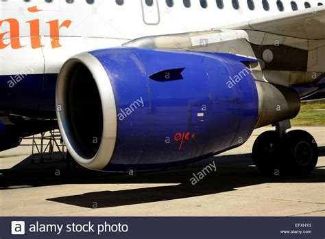 rolls royce aircraft engines rolls royce aircraft engine in an airbus a320 stock photo