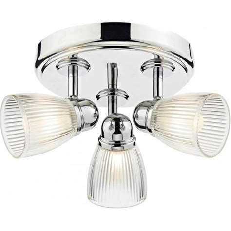 Franklite Ribbed Shade Bathroom Ceiling Light Cf1286 Franklite Lighting Luxury Lighting Dar Lighting Cedric 3 Light Bathroom Ceiling Spot Light Fitting In Polished Nickel Finish With