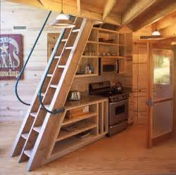 Wooden Loft Ladders With Handrail 5 Creative Staircase Ideas For Tiny House Rvs Tumbleweed