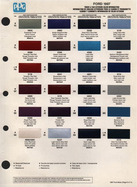 paintrefcom automotive truck fleet paint color code cross reference