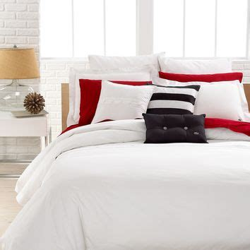 lacoste bedding lacoste bedding solid white brushed from macys