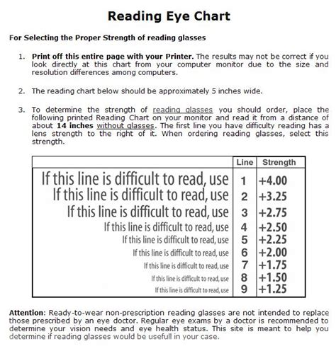 printable eye reading chart reading eye chart printout i heart eyewear