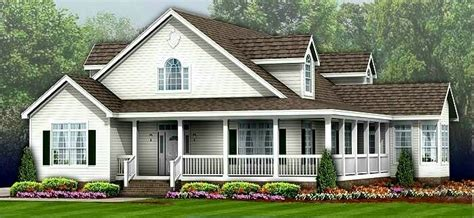 wrap around porch cost ranch house modular home floor plans nc 171 unique house