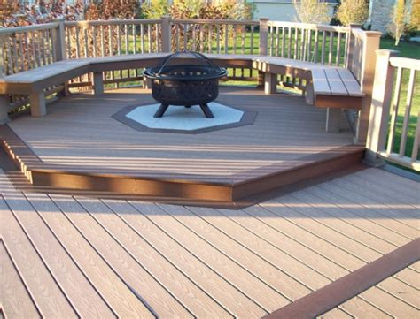 pit built into wood deck small deck pit deck design and ideas