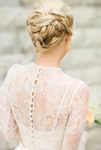 Classic braided chignon wedding hairstyles photos brides com