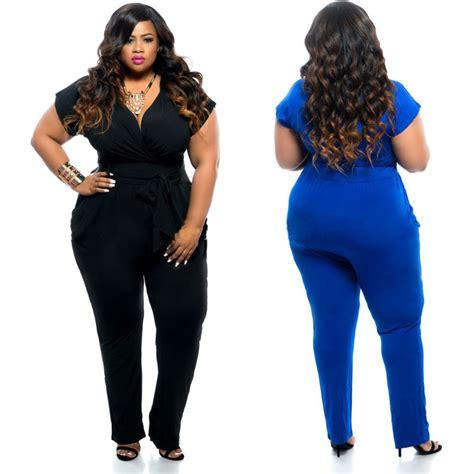 Jumpsuit Jumbo Jumpsuit Bigsize clubwear v neck playsuit bodycon jumpsuit romper trousers plus size ebay