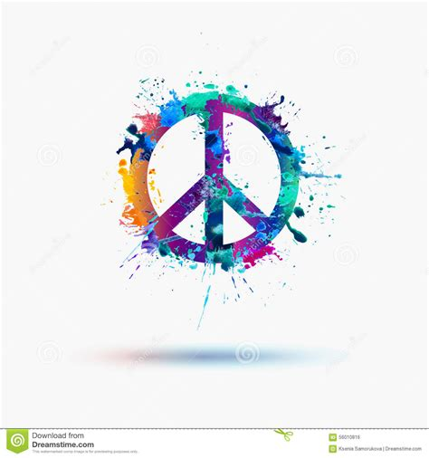 vector peace symbol stock vector image 56010816
