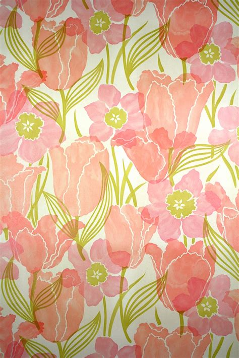 classic wallpaper to buy online vintage floral wallpaper pink tulip