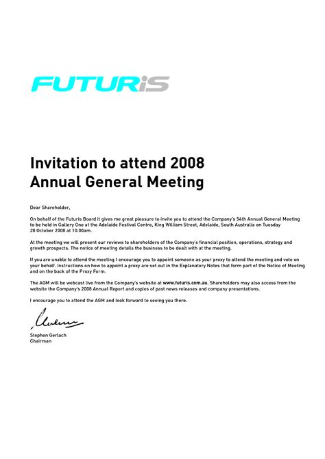 sample business event invitation letter just letter templates