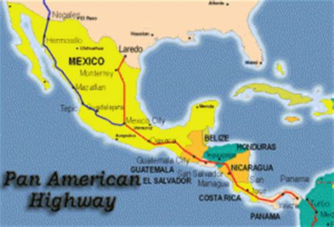 map of the pan american highway where can i drive the world s highway canidoit org