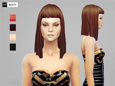 custom hair for sims 4 sims 4 hairs miss fortune sims straight hairstyle