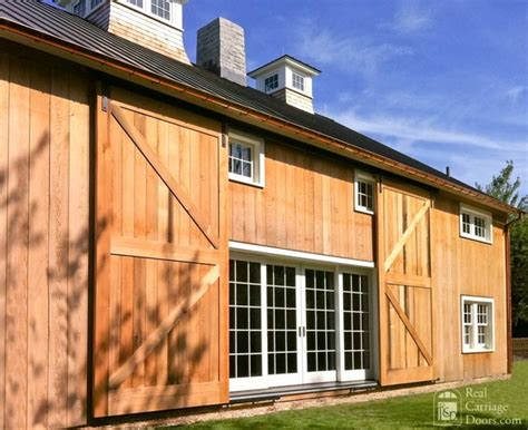 Sliding Exterior Barn Doors Big Sliding Barn Doors By Real Carriage Door Company