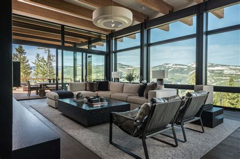 stone mountain chalet with elevator and ski area decor