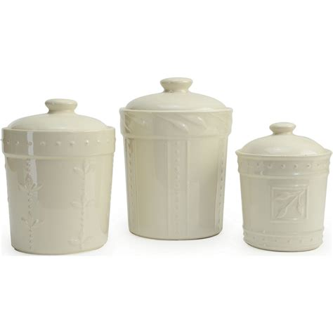 ceramic canisters for the kitchen signature housewares sorrento kitchen canisters 3