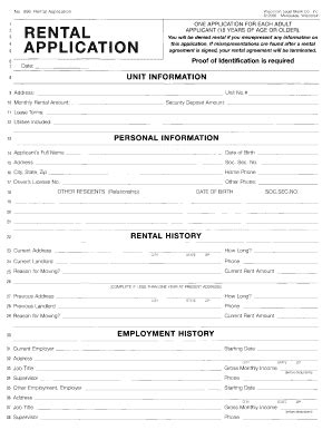 Renters Credit Form Wisconsin Wisconsin Rental Application Fill Printable Fillable Blank Pdffiller