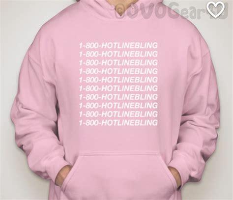 Jakethoodiesweater Hotlinebling Pink hooded sweatshirt 1 800 hotline bling sweater light pink hotline bling hoodie pull