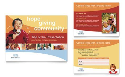 powerpoint template flyer community non profit powerpoint presentation template design