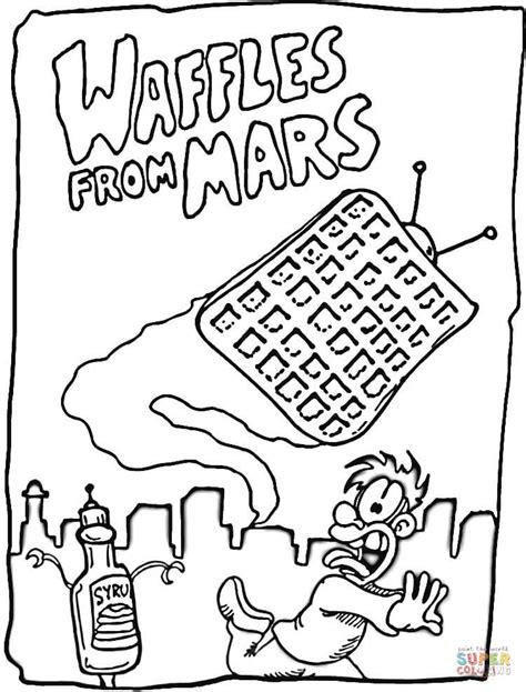 waffle house coloring page waffles from mars coloring page free printable coloring