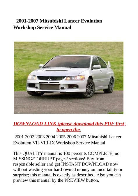 hayes auto repair manual 2003 mitsubishi lancer evolution regenerative braking 2001 2007 mitsubishi lancer evolution workshop service manual by zrbhtdryjun6 issuu
