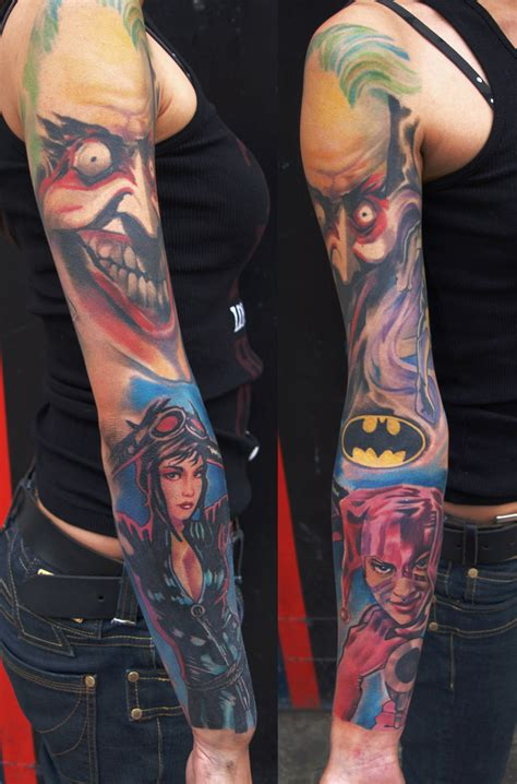 batman comic tattoo sleeve batman tattoos designs ideas and meaning tattoos for you
