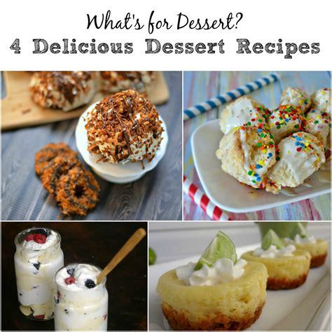 4 unique dessert recipes