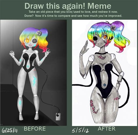 Draw This Again Meme Blank - draw this again challenge reupload by appleminte on
