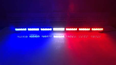 red blue police lights lb1203 7 red white and blue led dash light led police