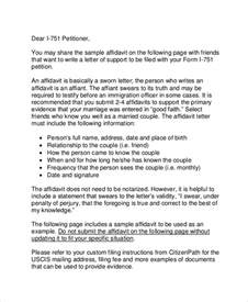 Sle Of Relationship Support Letter For Immigration Sle Affidavit 10 Exles In Word Pdf