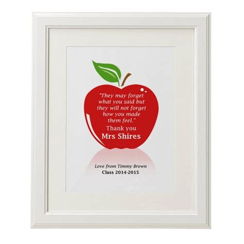apple quotes personalised teachers thank you quote apple print