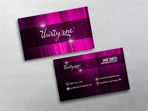 Free Thirty One Business Card Template