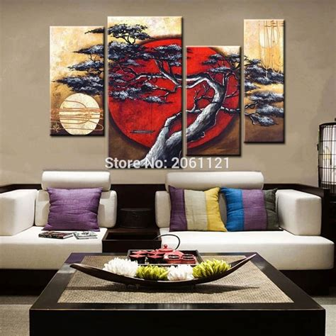 painted canvas painting japanese style
