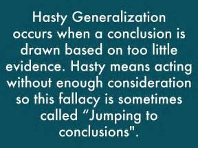 exle of hasty generalization hasty and sweeping generalizations by palashishah