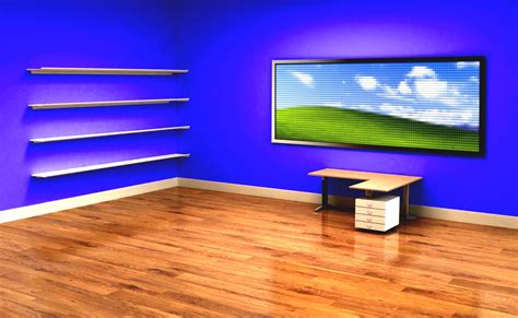 Office Wallpaper by Best Office Desktop With Wooden Laminate Flooring