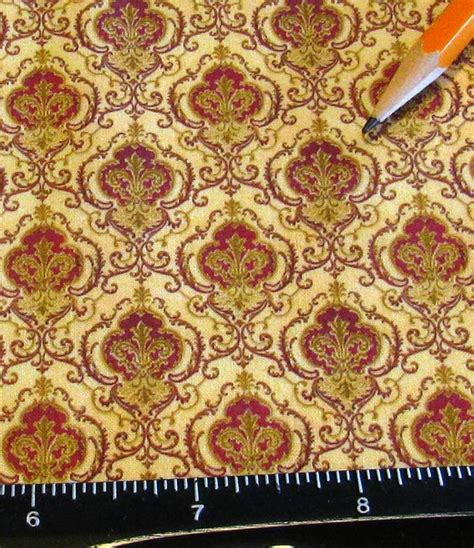 victorian upholstery fabric dollhouse miniature victorian upholstery fabric ogee damask