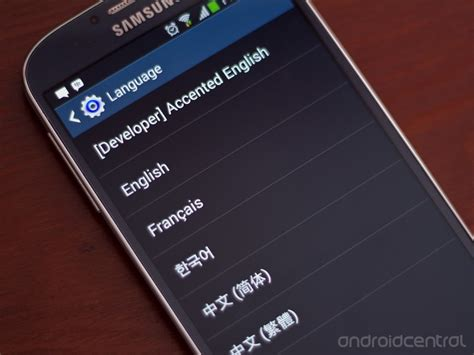 how to change languages on the samsung galaxy s4 android central
