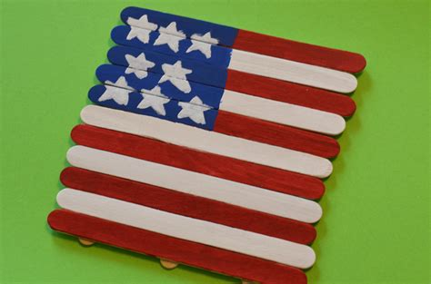 flag craft for patriotic american flag craft stick craft for