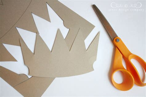 A Crown Out Of Paper - paper crowns tutorial jones design company
