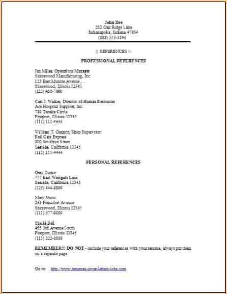 reference page resume template sidemcicek com