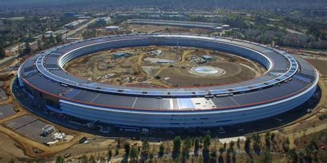 apple park first drone footage since naming of apple park shows