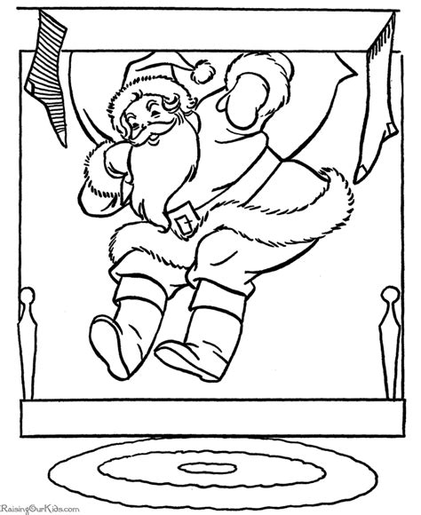 printable coloring pictures of santa claus christmas coloring pictures santa delivers gifts