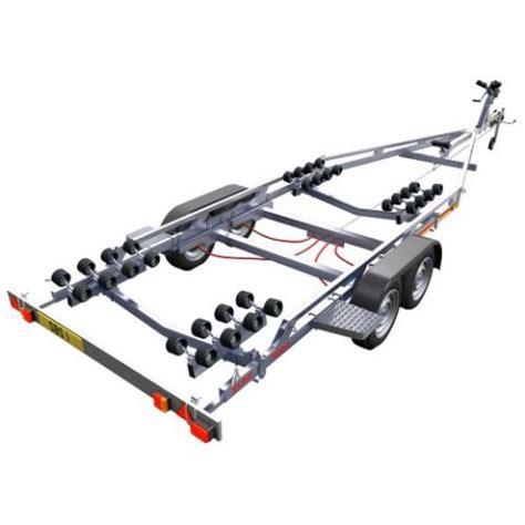 sbs boat trailers sbs r4 2000el twin axle multi roller boat trailer