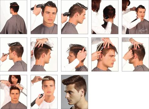 mens hairstyle step by step comb step by step salon international middle east edition