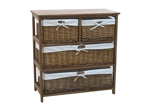 storage cabinets with wicker baskets charles bentley wooden wicker storage cabinet